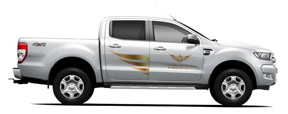 quảng cáo hiệu quả trên ô tô - Mẫu nhận diện thương hiệu trên oto