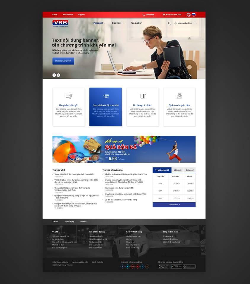 THIẾT KẾ WEBSITE BIDV- bidvpremier.com.vn