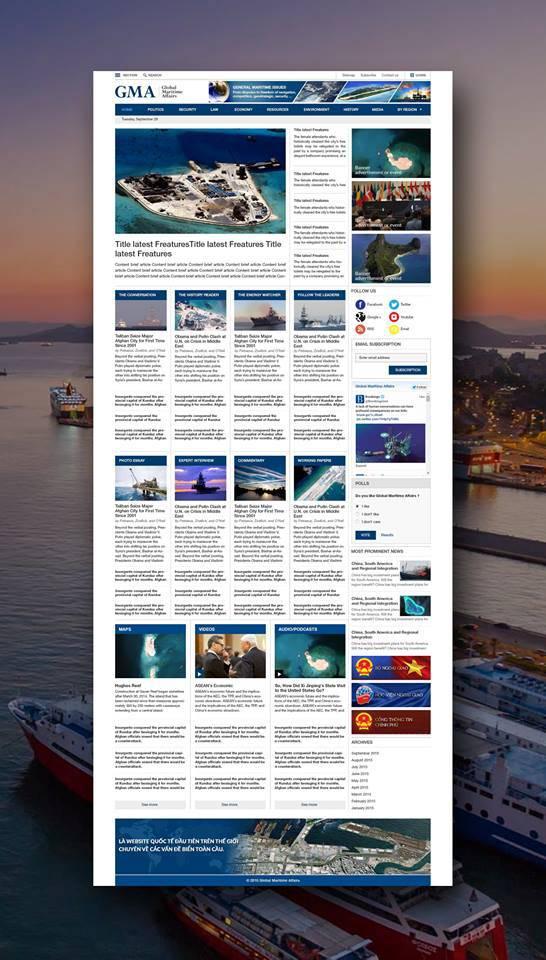 Website: Global Marytime Affairs (Viện Nghiên cứu Các vấn đề về Biển)
