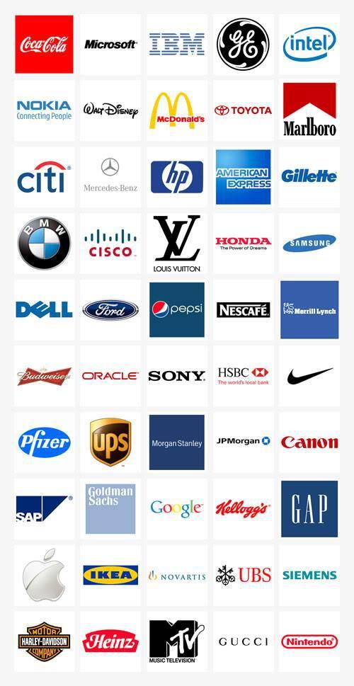 top 50 Logo  thương hiệu nổi tiếng