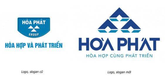 Logo mới Hòa phát