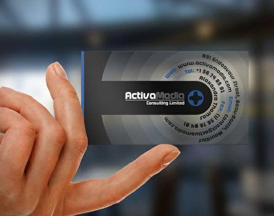 Modern Transparent Business Card
