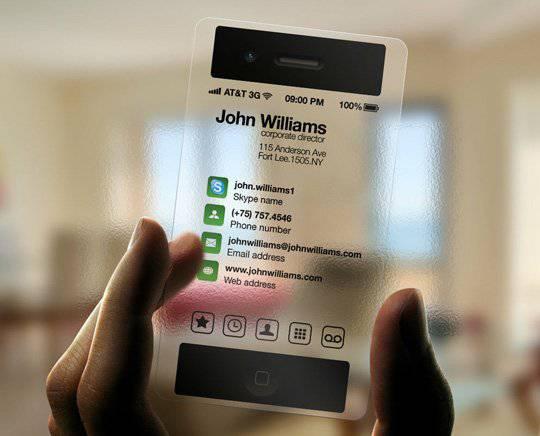 iPhone Business Card Transparent