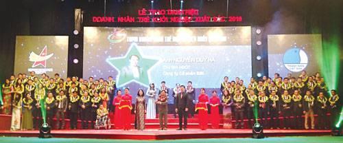 Bắc Ninh có 1 doanh nhân được vinh danh Top 10 doanh nhân trẻ khởi nghiệp xuất sắc năm 2016