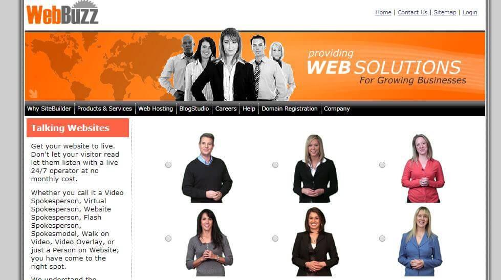 Người phát ngôn cho trang web. Một phong cách website hiện đại