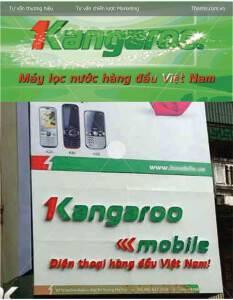 """Mẫu thông điệp """"phạm luật quảng cáo"""" của Kangaroo"""