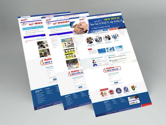 Thiết kế website scf quốc tế tại bắc ninh