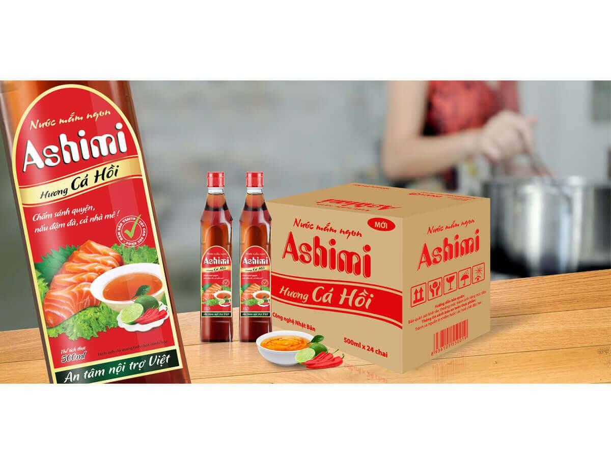 Thiết kế nhận diện thương hiệu nước mắm Ashimi tại Bắc Ninh