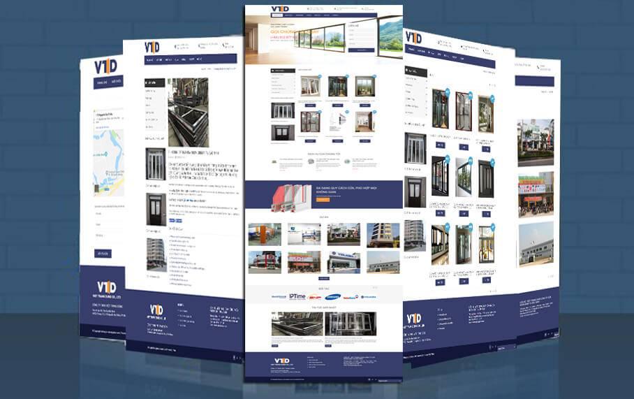 thiết kế website cửa nhôm, của cuốn, cửa thủy lực tại bắc ninh