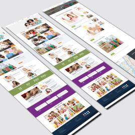 thiết kế website mầm non tiny seed Montessori tại bắc minh