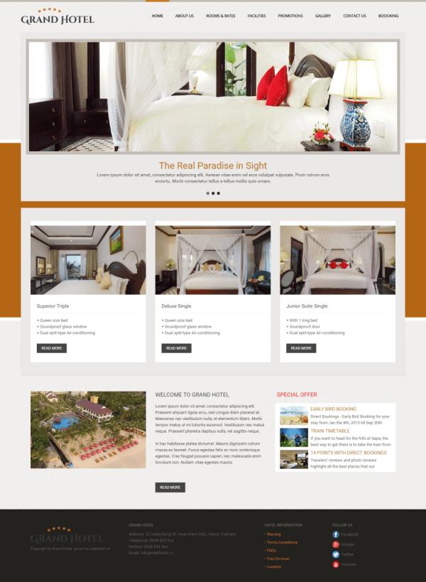 Các chức năng không thể thiếu của một website khách sạn & resort