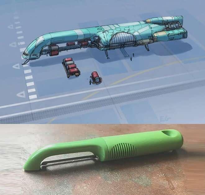 Nghệ sĩ này biến những đồ vật bình thường nhất thành tàu vũ trụ với thiết kế vô cùng ngoạn mục - Ảnh 2.