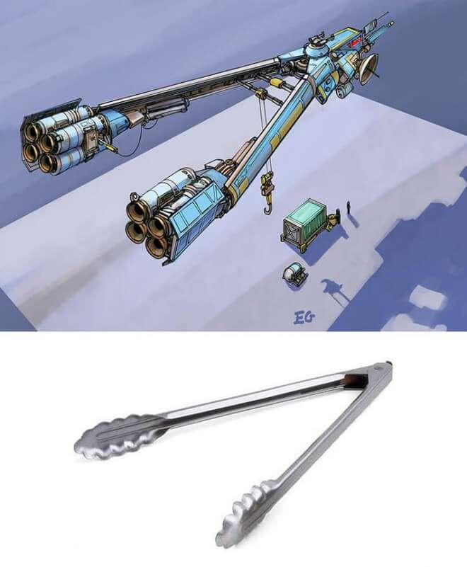 Nghệ sĩ này biến những đồ vật bình thường nhất thành tàu vũ trụ với thiết kế vô cùng ngoạn mục - Ảnh 3.