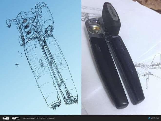 Nghệ sĩ này biến những đồ vật bình thường nhất thành tàu vũ trụ với thiết kế vô cùng ngoạn mục - Ảnh 4.