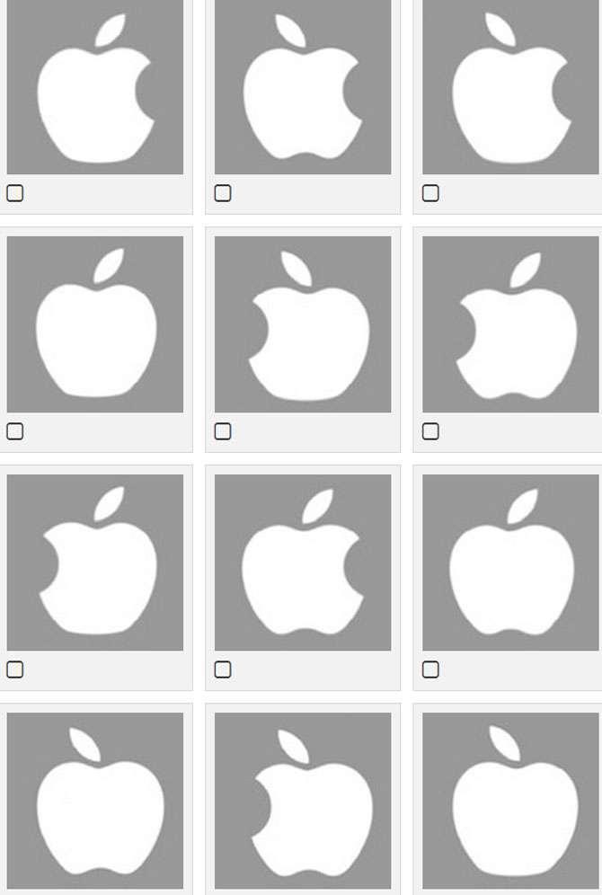 Phần lớn nhận diện sai logo Quả táo. Tại sao?