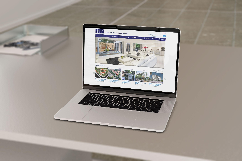 Mẫu website xây dung cong ty đáp càu bắc ninh