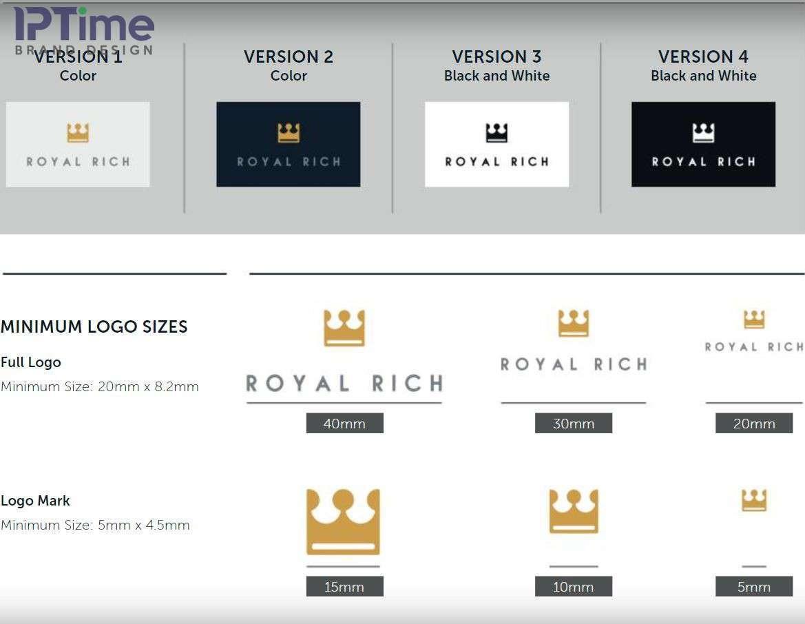 Kích thước logo cũng như các biến thể logo cơ bản cần dùng trong các mẫu khác nhau
