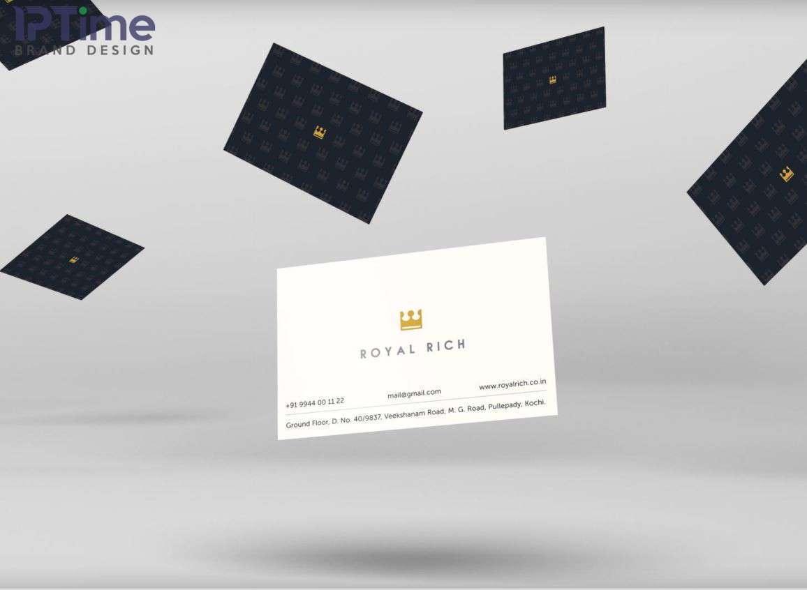mẫu card visit được thiết kế dựa trên mẫu logo chuẩn