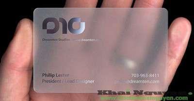 In card visit nhựa trong
