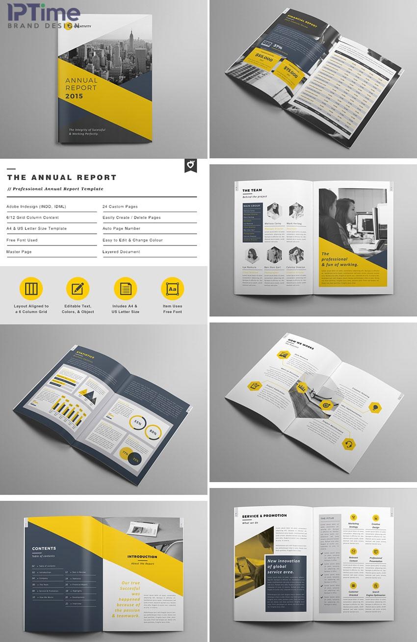 Mẫu profile công ty màu vàng - mẫu số 5