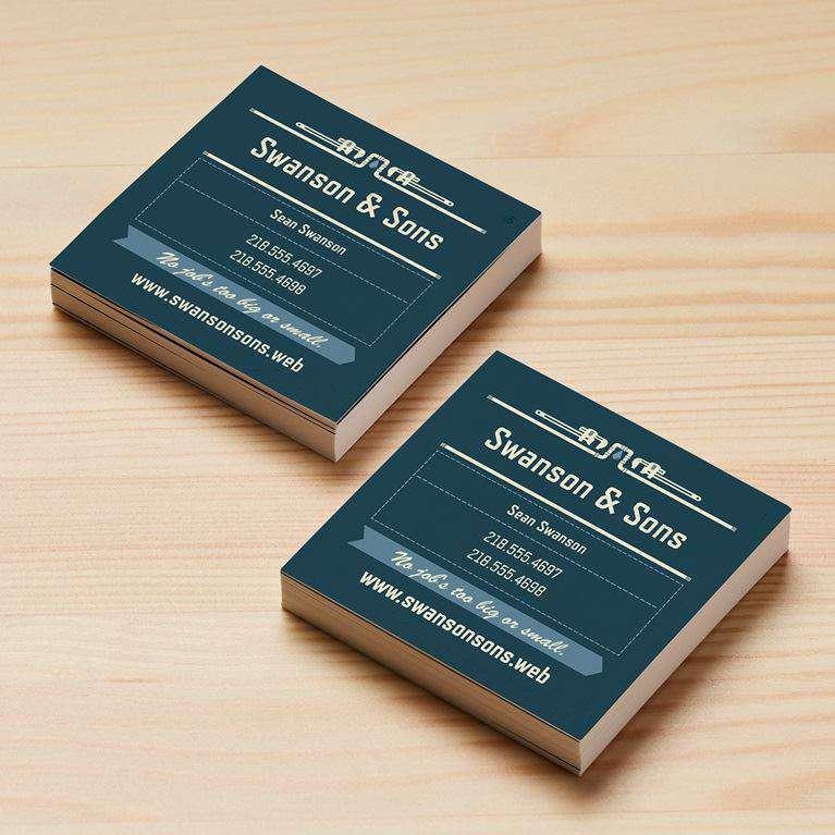 Mẫu thiết kế card visit hình vuông