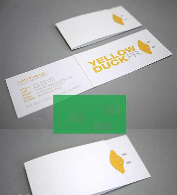 Thiết kế card đôi gấp lệch cực đẹp
