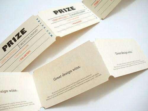 Thiết kế card visit cấn xé vô cùng đặc biệt