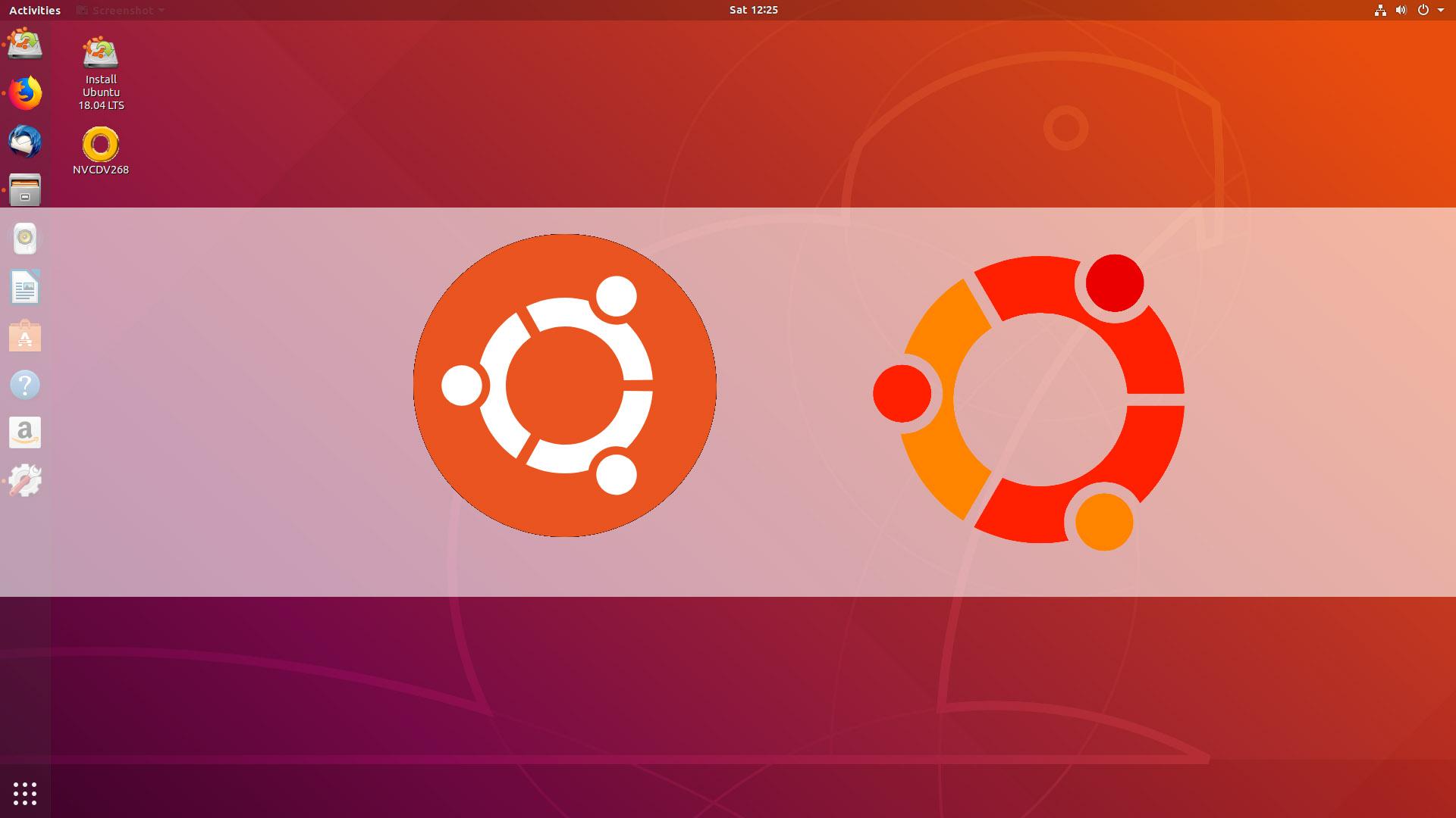 Logo và giao diện desktop phiên bản hệ điều hành Ubuntu
