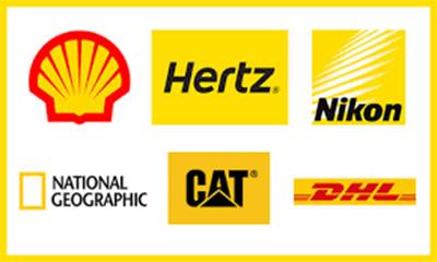 mẫu logo kết hợp màu sắc Vàng và Đỏ