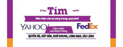 logo thương hiệu màu tím
