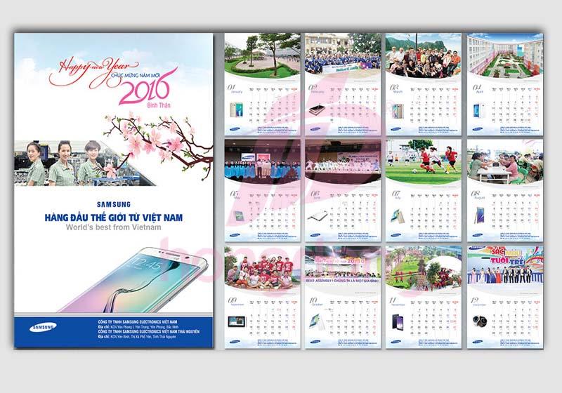 thiết kế in ấn lịch tết 2019
