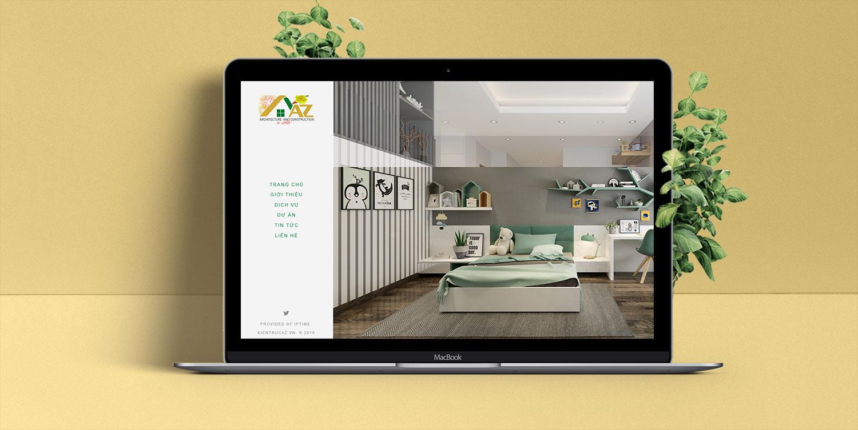 mẫu website đẹp do iptime thiết kế cho công ty AZ