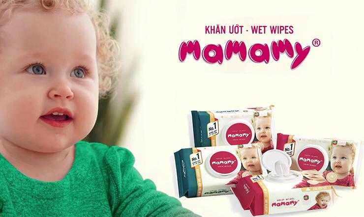 Mamamy được coi là thương hiệu khăn ướt số 1 ở Việt Nam