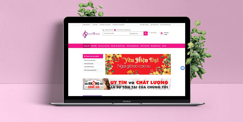 Website kinh doanh sản phẩm người lớn shop bao cao su siêu thị 18
