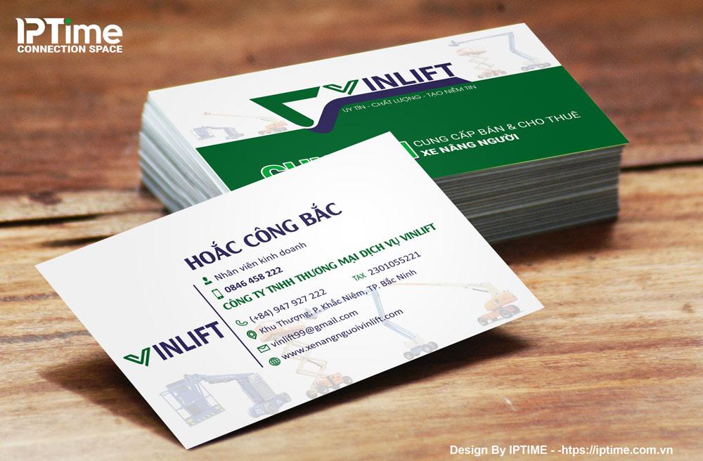 Card visit thương hiệu xe nâng Vinlift