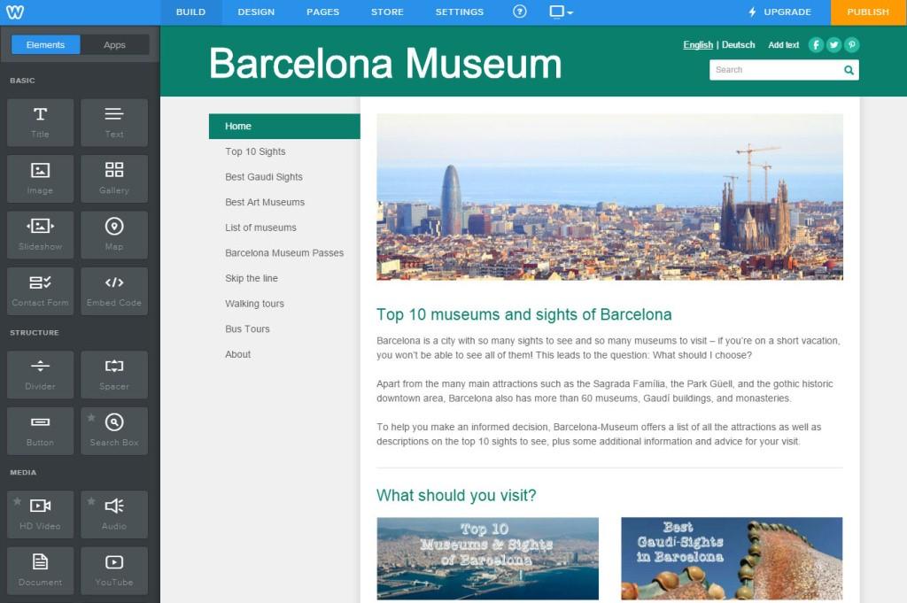 thiết kế website miễn phí bằng weebly