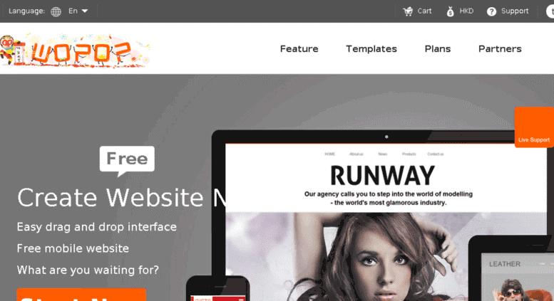 website miễn phí bằng wobop