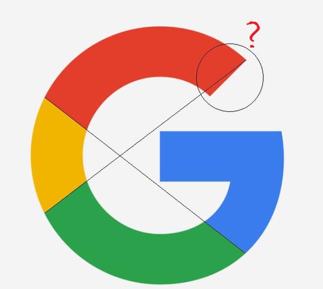 Gần đây, cộng đồng mạng phát hiện ra rằng logo của Google có thiết kế không hoàn hảo