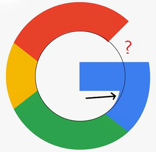 Logo của Google không cân xứng, không tròn trịa