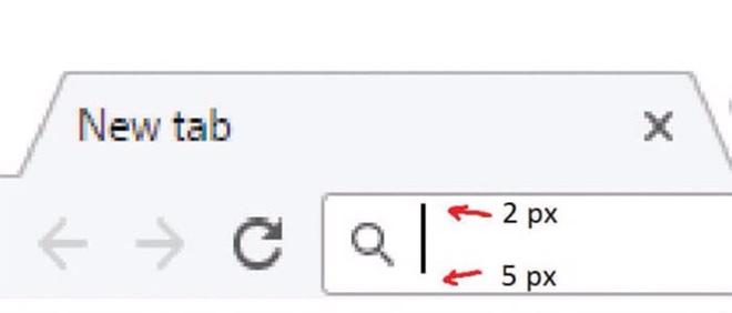 Thậm chí, thanh địa chỉ, tìm kiếm trên Chrome cũng mắc lỗi thiết kế