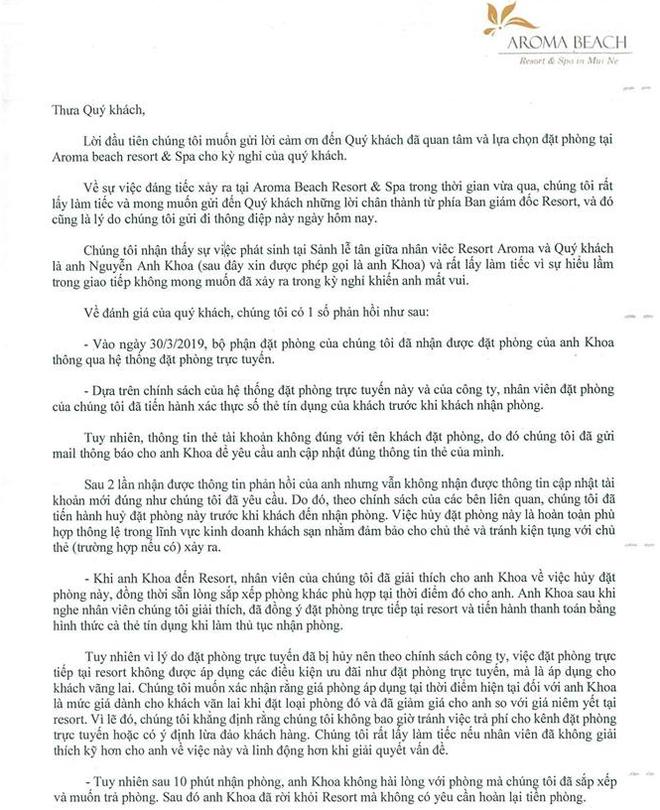 """Chuyên gia lên tiếng về 3 sai lầm """"chết người"""" của Aroma Resort, muốn """"dập lửa"""" phải sa thải toàn bộ nhân sự hôm đó, giám đốc resort xin lỗi cho đến khi khách hàng tha thứ - Ảnh 1."""