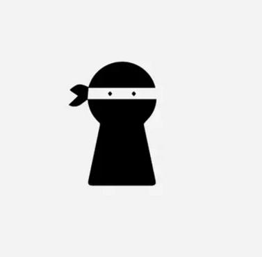 Logo của LockNinja - một ứng dụng bảo mật trên điện thoại được thiết kế rất hợp ngữ cảnh với hình ảnh chiếc ổ khóa không khác gì ninja, mang đến cho người xem cảm giác như smartphone của họ sẽ được bảo vệ chặt chẽ bởi một ninja