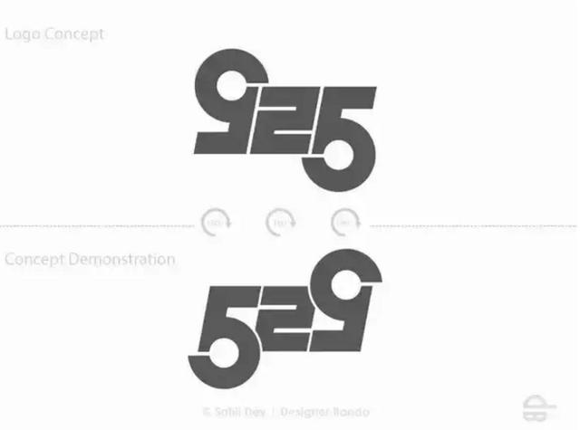 Logo 925 - Nine to Five - biểu tượng cho khung giờ 9h sáng đến 5h chiều của hầu hết những ai đi làm. Tuy nhiên, ở đây designer đã tạo ra một hình ảnh song xứng để khi lộn lại, logo thành hình 529 - ám chỉ việc tận dụng quãng thời gian ngoài giờ làm việc chính là cách để con người ta theo đuổi đam mê và tạo ra nhiều giá trị hơn