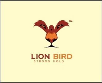 Logo Lion Bird với hình pha trộn của một chú chim và một khuôn mặt sư tử cực ấn tượng