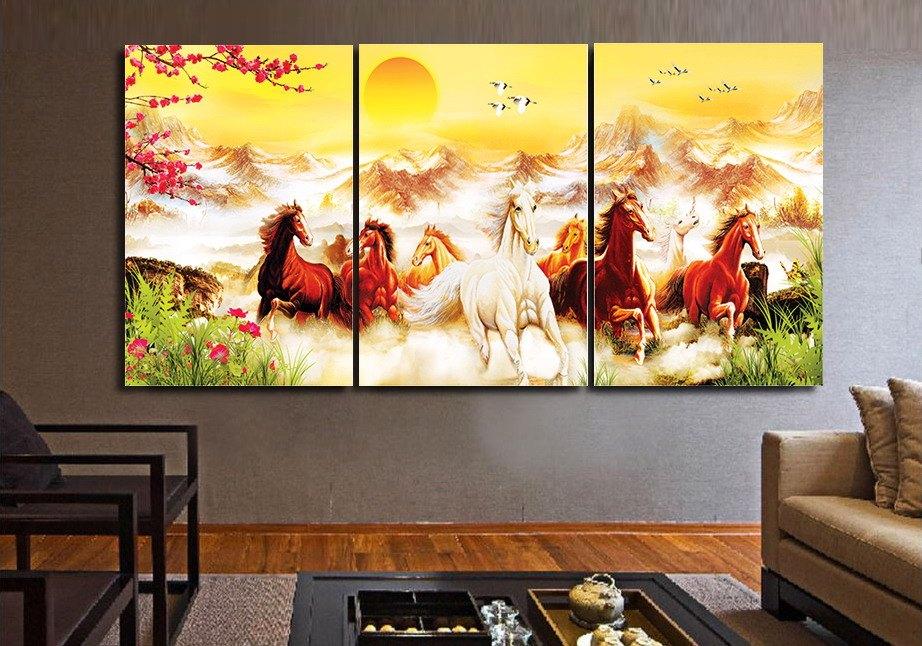 Kích thước của các bức tranh treo tường cần phải có sự hài hòa với diện tích phòng