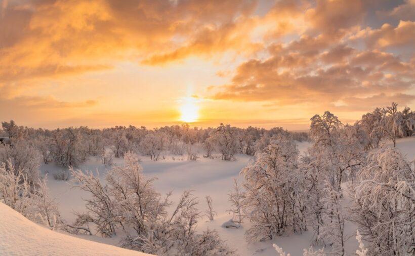 hình ảnh nắng trong tuyết