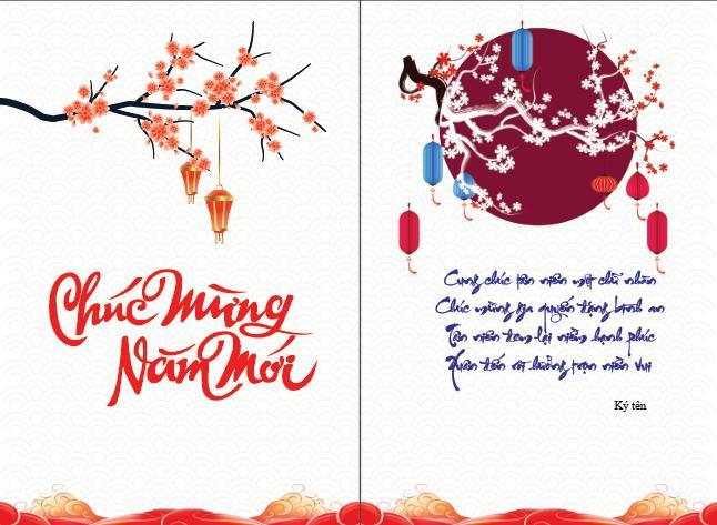 Mẫu bưu thiếp chúc mừng năm mới