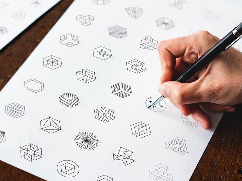 phác thảo thiết kế logo
