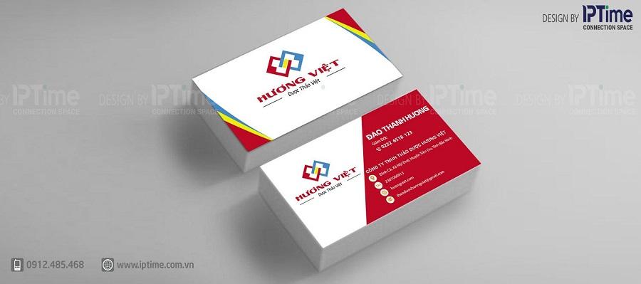 Mẫu thiết kế name card cho khách hàng của IP Time