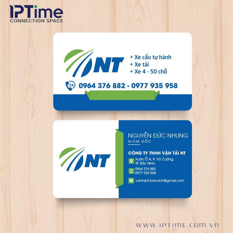 Mẫu card visit vận tải